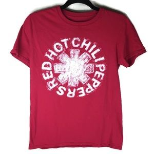 Red Hot Chili Peppers Short Red SleeveTee Sz Small